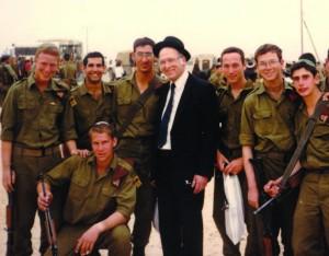 Rav Lichtenstein with some of his students. Courtesy of  Yeshivat Har Etzion