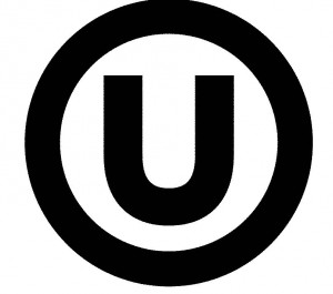 The world-famous OU logo, the symbol of the Orthodox Union's kosher certification
