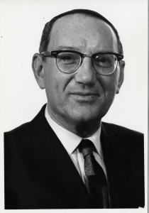 Rabbi Emanuel Rackman, who served as vice president of YU and president of the RCA and held pulpit positions at distinguished New York congregations, was a key figure in getting the Orthodox community involved in the Civil Rights Movement. Photo: Yeshiva University Archives, Public Relations Records