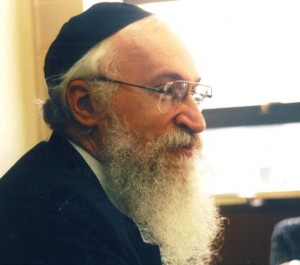 Giving a shiur, May 1999.