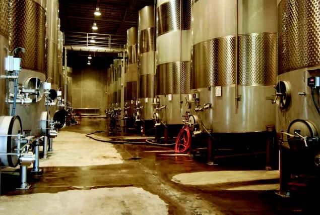 Storage tanks/fermentation tanks. Photos courtesy of Royal Wine Corporation