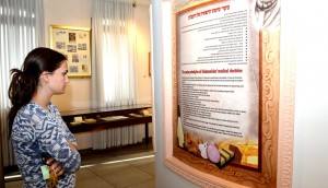 Learning about the Rambam's life and legacy at the Maimonides Heritage Museum. Photo: Yoram Cohen