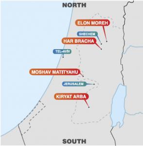 map yeshuvim