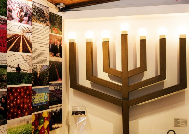 The menorah that once graced the synagogue of Netzarim, a town in Gush Katif that was destroyed in 2005.  Photos: Yehoshua Halevi