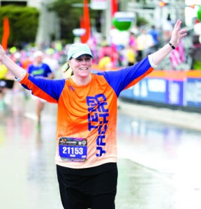 Vicki Ross, a Chicago social worker who ran with Team Yachad.