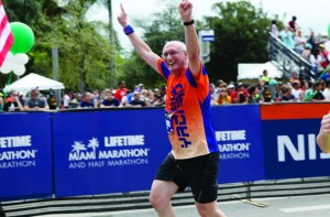 Jacob Schlanger, sixty-three, is a four-time Team Yachad runner.